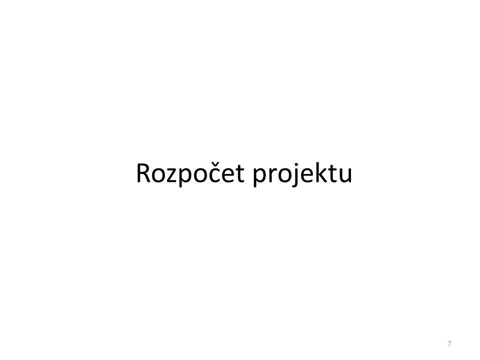 Rozpočet projektu 7