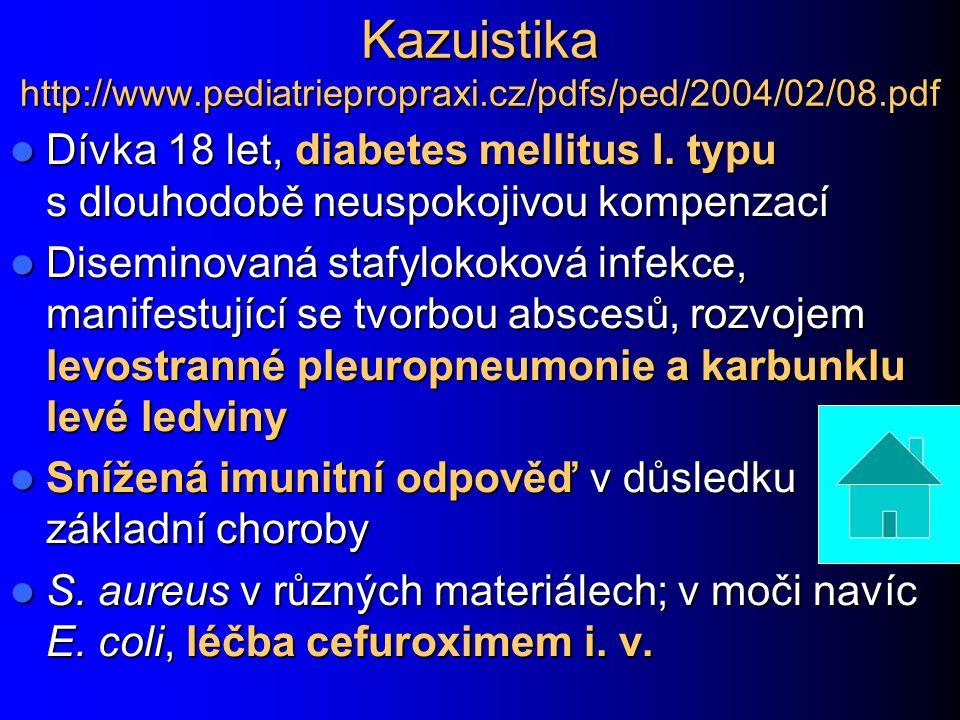 Kazuistika http://www.pediatriepropraxi.cz/pdfs/ped/2004/02/08.pdf Dívka 18 let, diabetes mellitus I.
