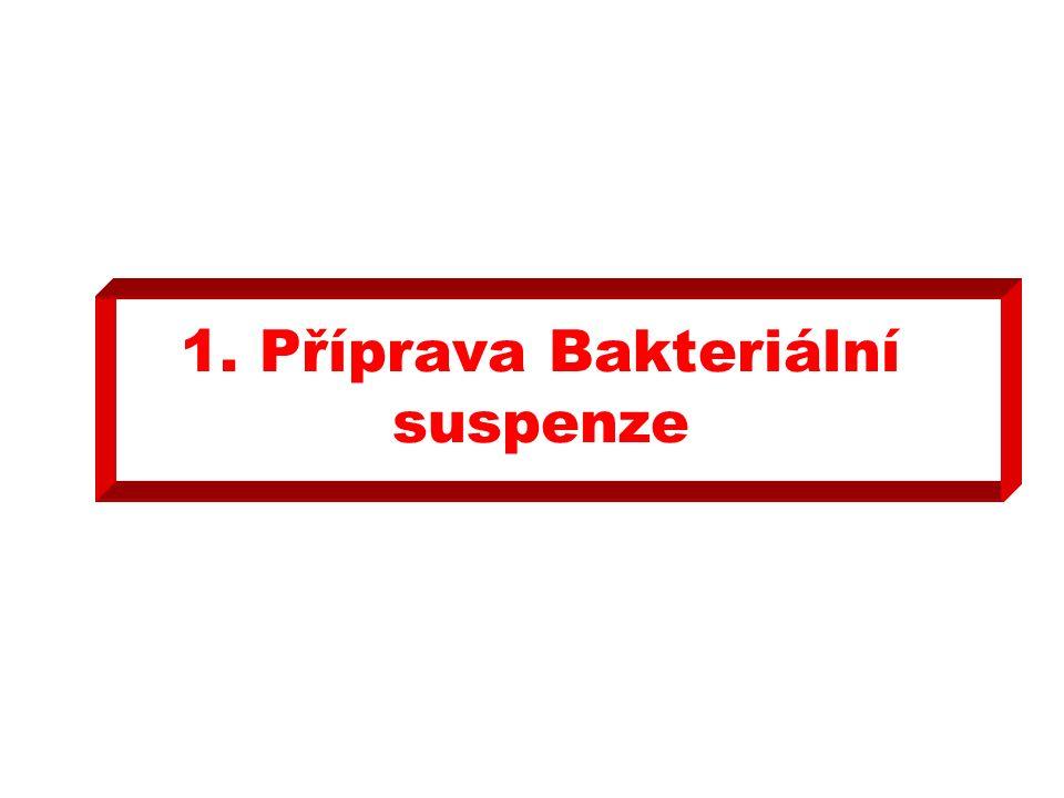 1. Příprava Bakteriální suspenze