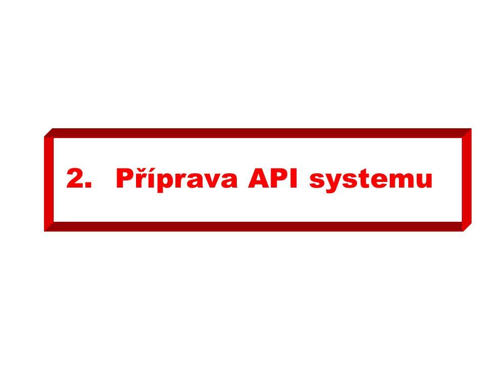 2.Příprava API systemu