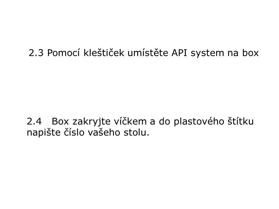 2.Naplnění API systemu
