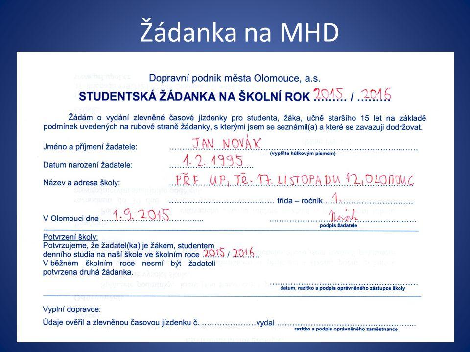 Žádanka na MHD