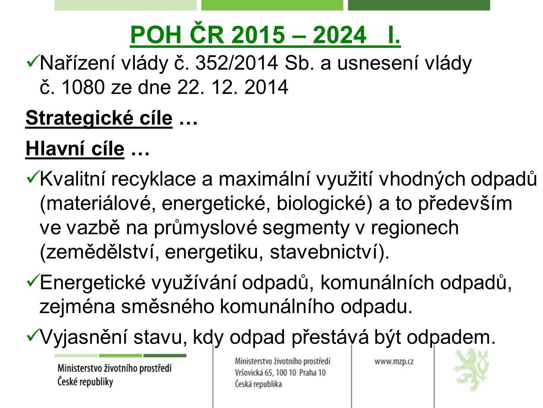 POH ČR 2015 – 2024 I. Nařízení vlády č. 352/2014 Sb.