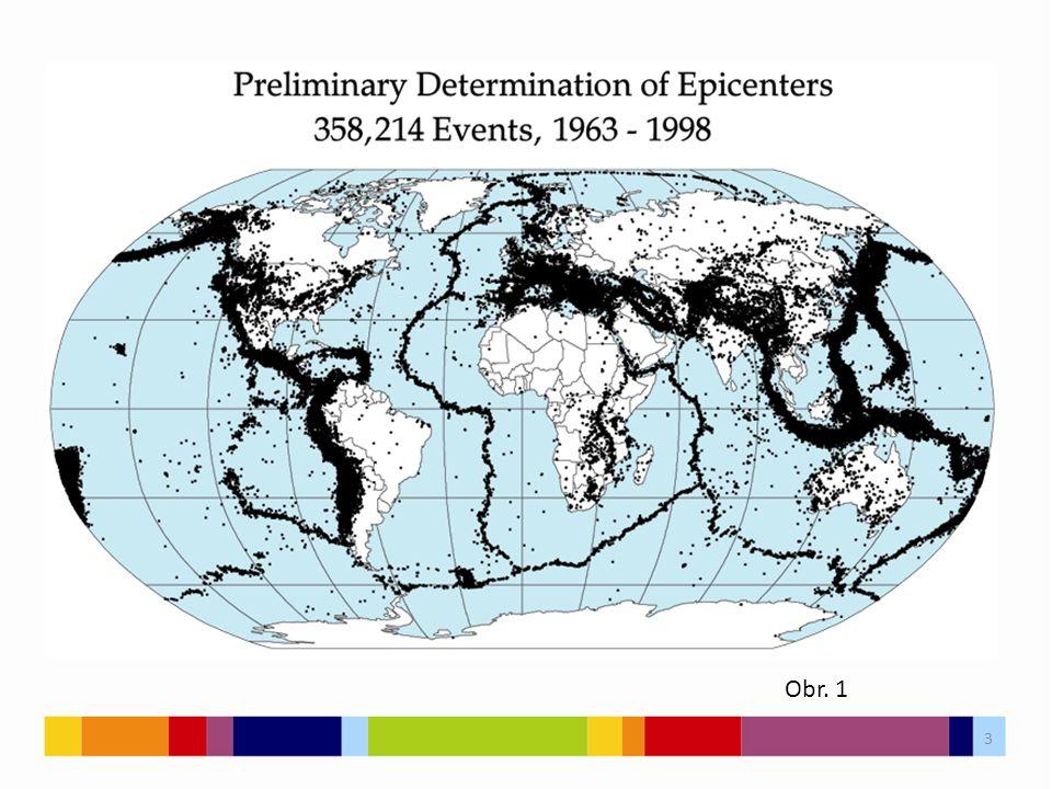 Druhy zemětřesení přírodní a antropogenní dle původu – řítivá 3 % – sopečná 7 % – tektonická 90% 4