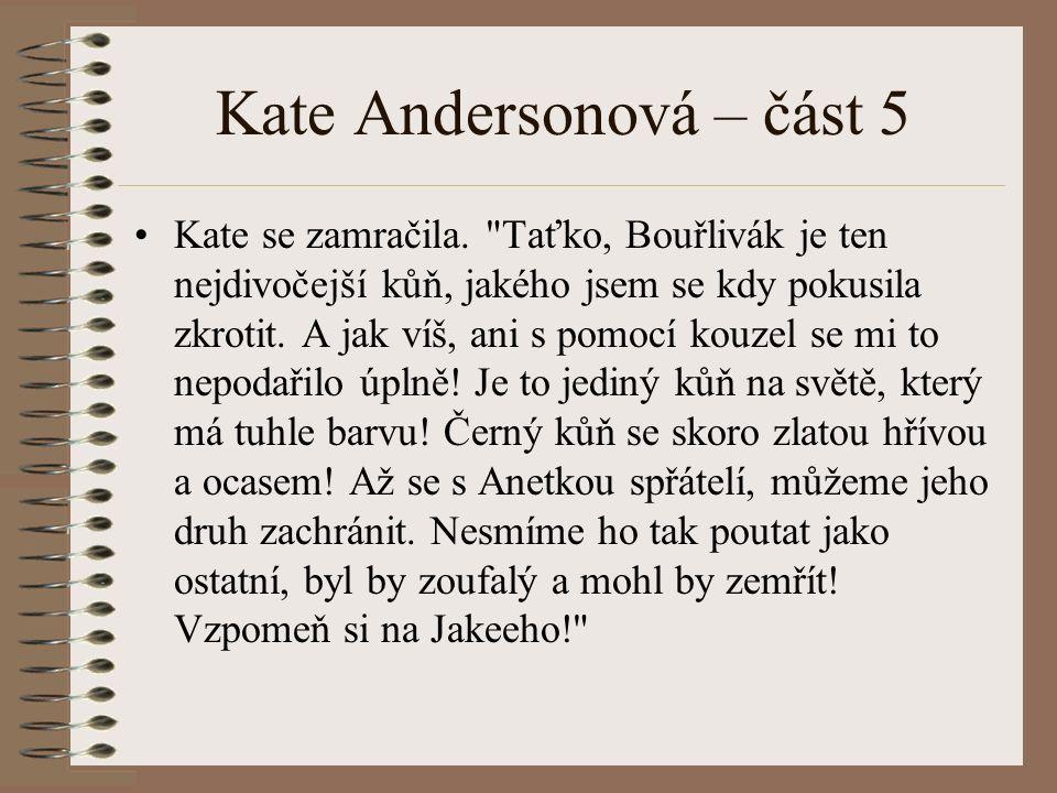 Kate Andersonová – část 5 Kate se zamračila.