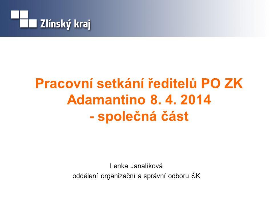 Pracovní setkání ředitelů PO ZK Adamantino 8. 4.