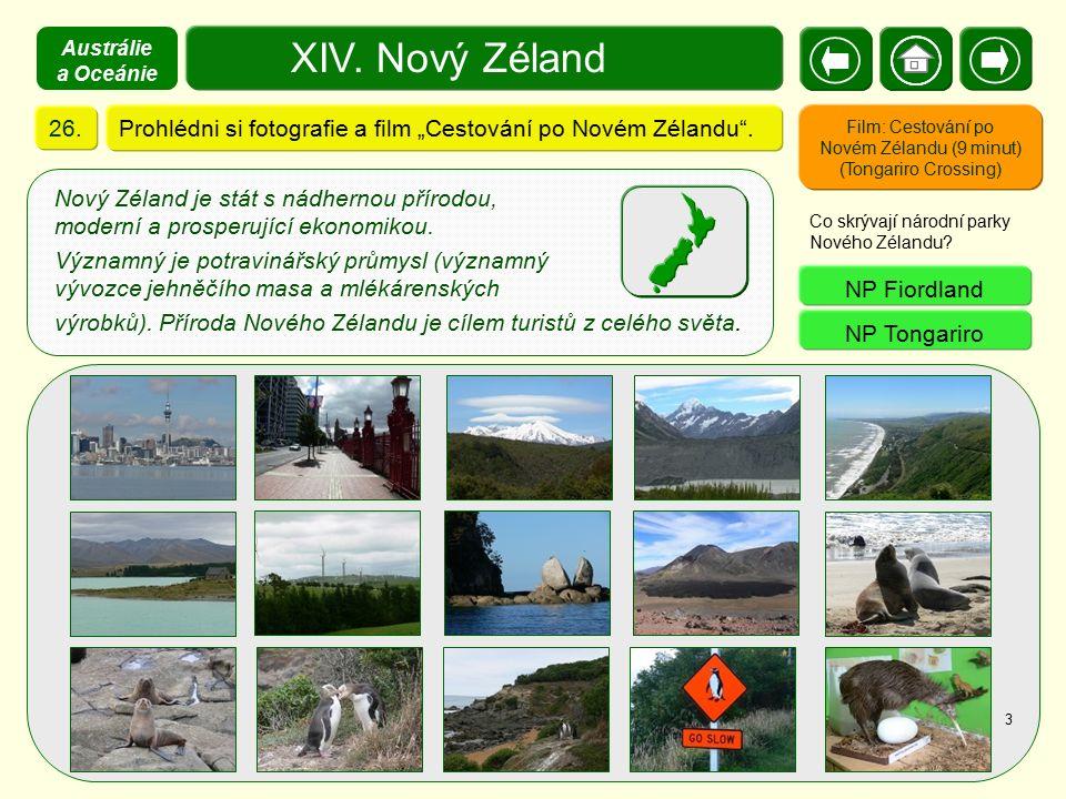 """XIV. Nový Zéland Prohlédni si fotografie a film """"Cestování po Novém Zélandu"""".26. Film: Cestování po Novém Zélandu (9 minut) (Tongariro Crossing) Co sk"""