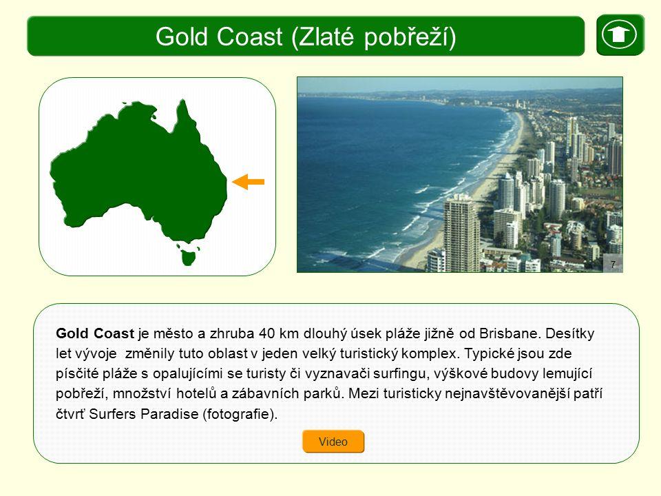 je město a zhruba 40 km dlouhý úsek pláže jižně od Brisbane. Desítky let vývoje změnily tuto oblast v jeden velký turistický komplex. Typické jsou zde