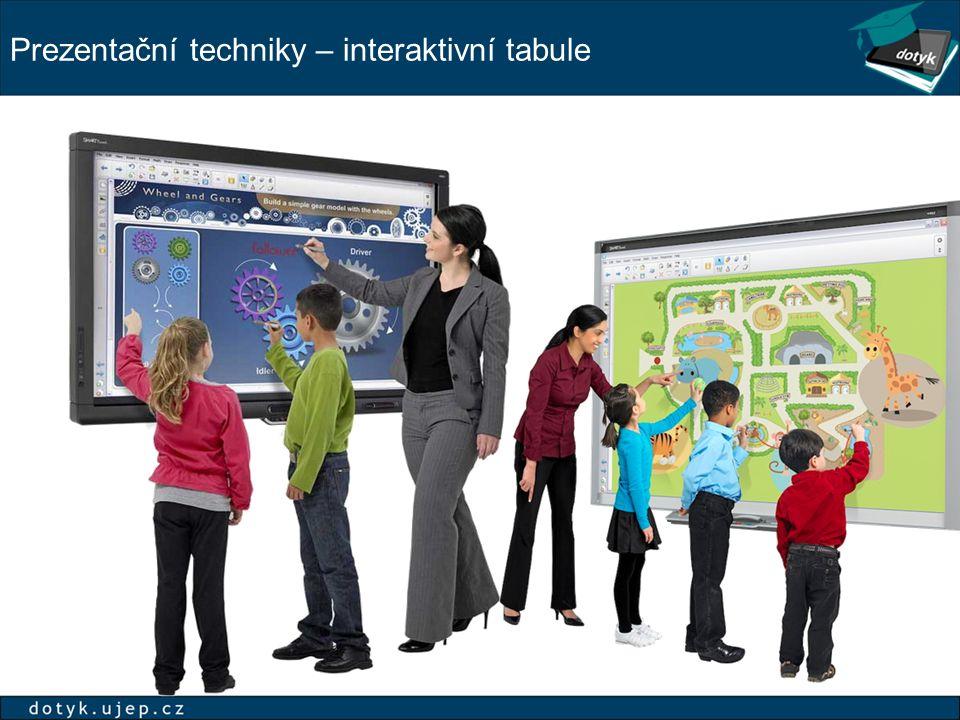 Prezentační techniky – interaktivní tabule