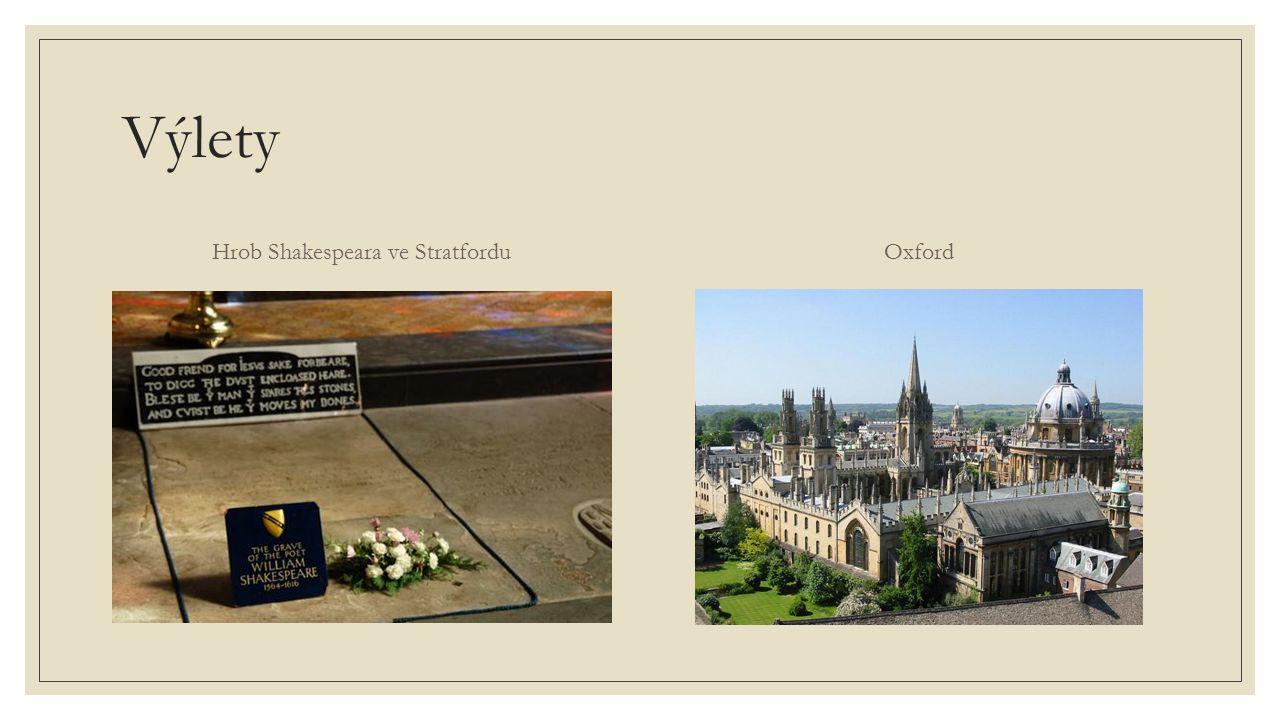 Výlety Hrob Shakespeara ve StratforduOxford