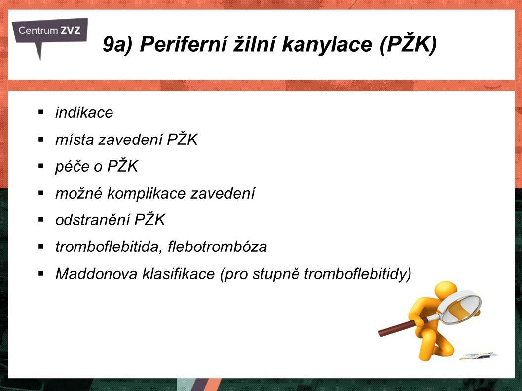  nabodnutí a zpřístupnění periferní žíly za účelem intravenózní aplikace,  PŽK (užívaná zkratka).