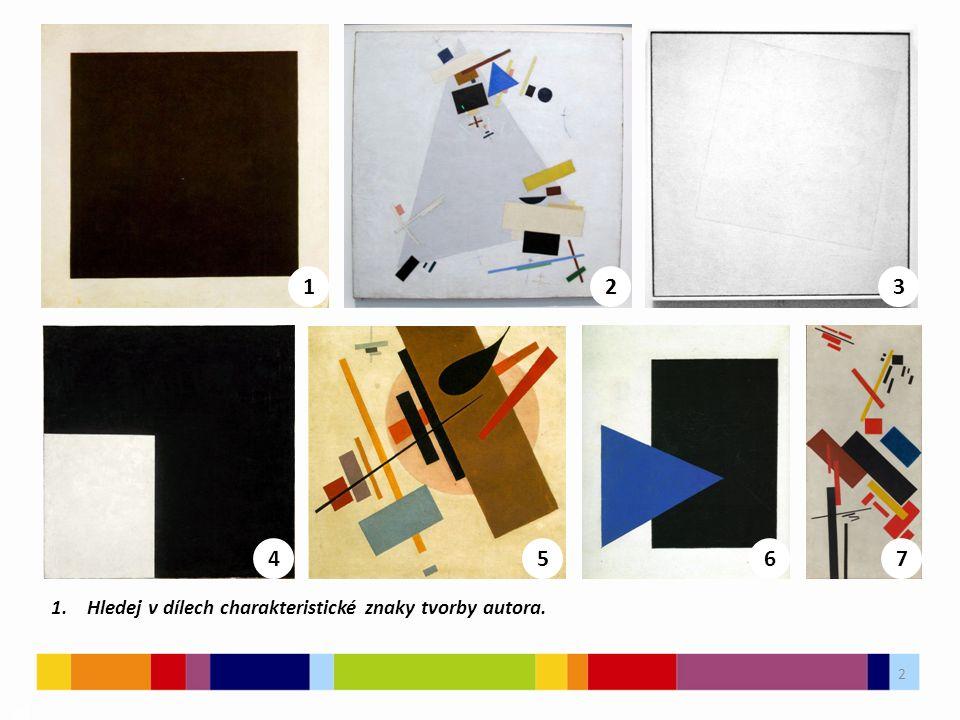 3 03 2.Seřaď obrázky tak, jak si myslíš, že probíhal vývoj umělce.