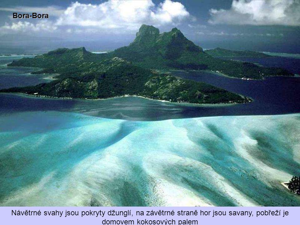 Bora- Bora Tak jako ostatní okolní ostrovy vznikl i Bora-Bora výbuchem sopky. Je hornatý a nejvyššími body jsou dva ostré skalnaté vrcholy Pahia a Ote
