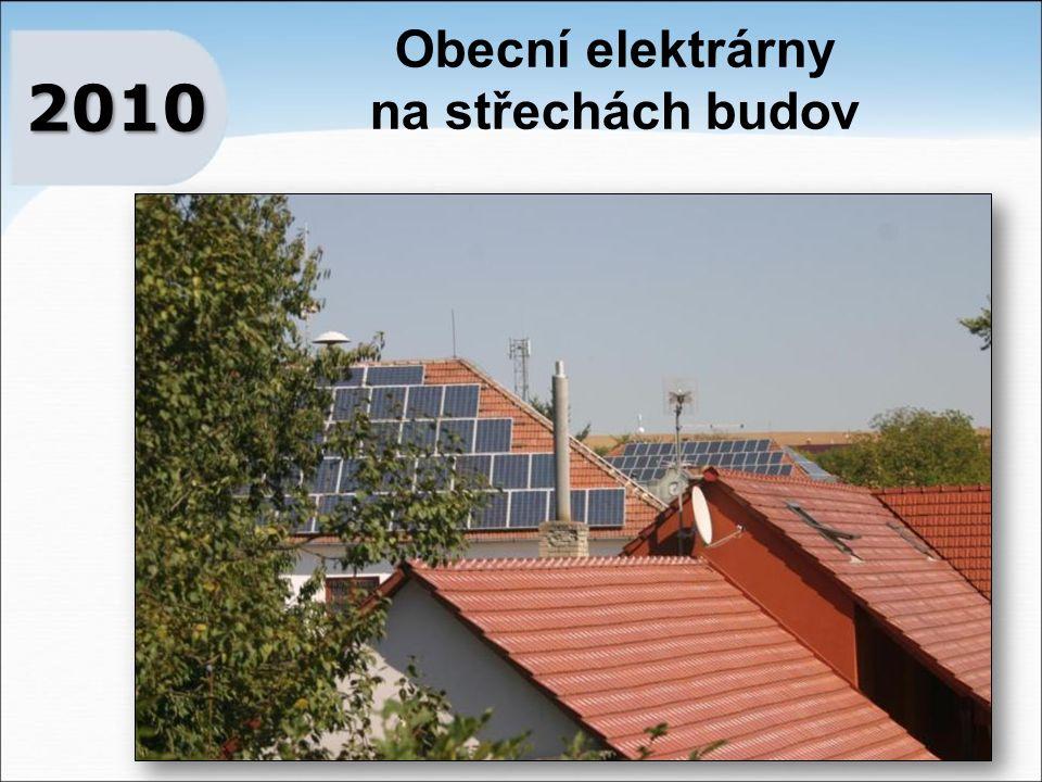 Obecní elektrárny na střechách budov 2010