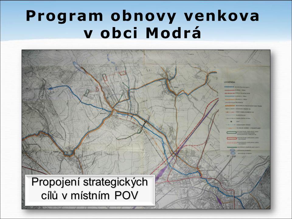 Propojení strategických cílů v místním POV Program obnovy venkova v obci Modrá