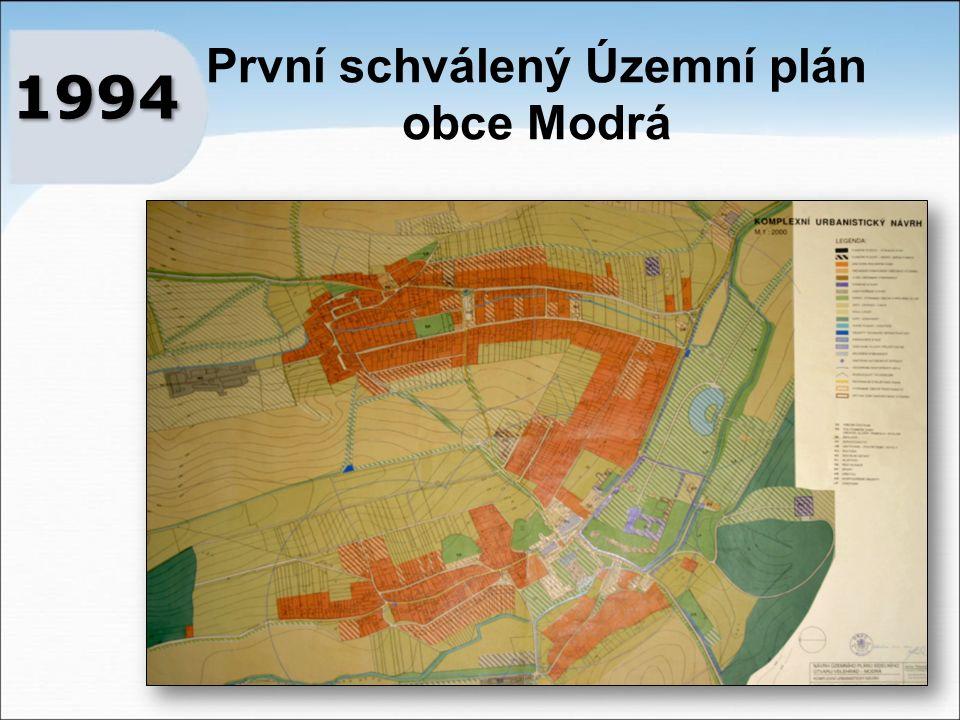První schválený Územní plán obce Modrá 1994