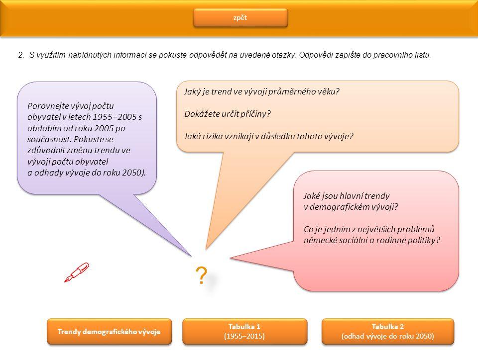 zpět 2.S využitím nabídnutých informací se pokuste odpovědět na uvedené otázky.