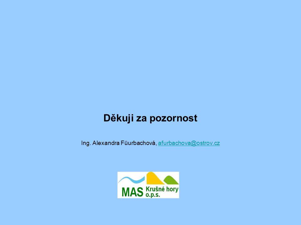 Děkuji za pozornost Ing. Alexandra Füurbachová, afurbachova@ostrov.czafurbachova@ostrov.cz