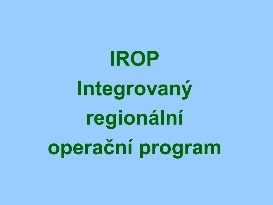IROP Integrovaný regionální operační program