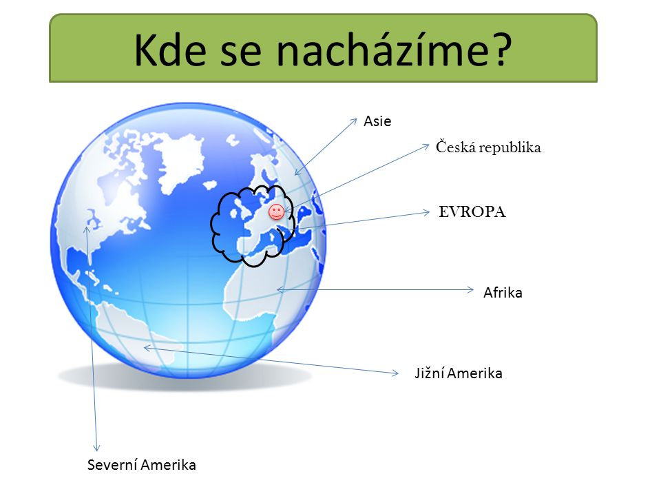 Kde se nacházíme Č eská republika EVROPA Asie Afrika Jižní Amerika Severní Amerika