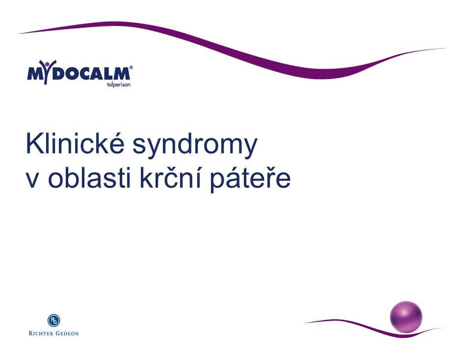 Klinické syndromy v oblasti krční páteře