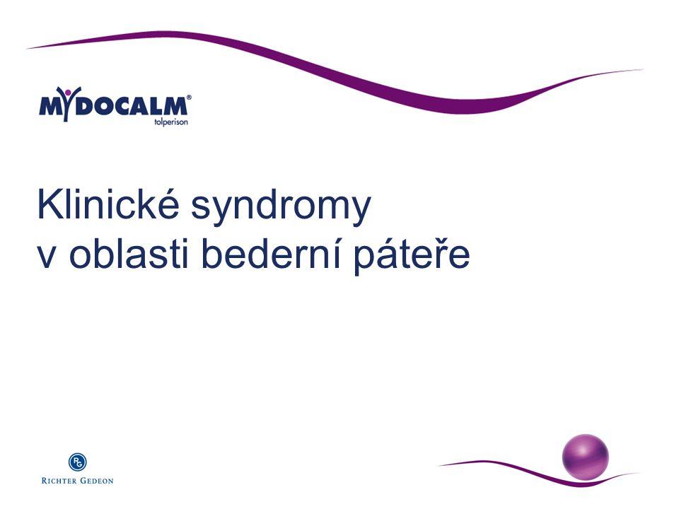 Klinické syndromy v oblasti bederní páteře