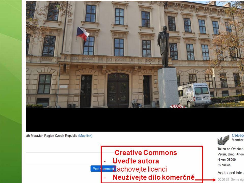 Creative Commons -Uveďte autora -Zachovejte licenci -Neužívejte dílo komerčně