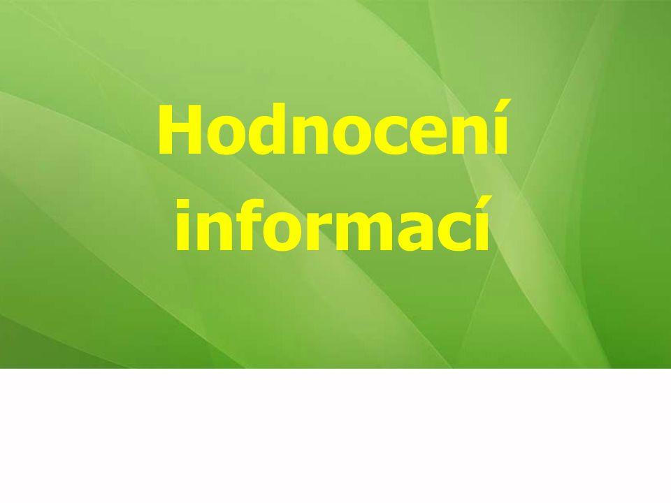 Hodnocení informací