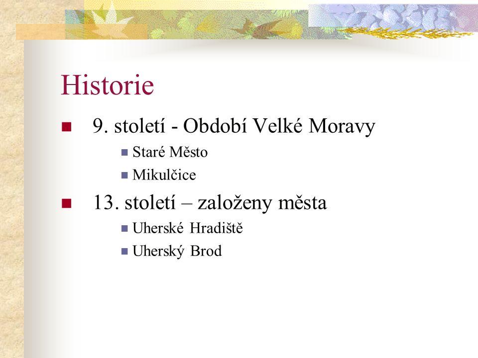 Historie 9.století - Období Velké Moravy Staré Město Mikulčice 13.