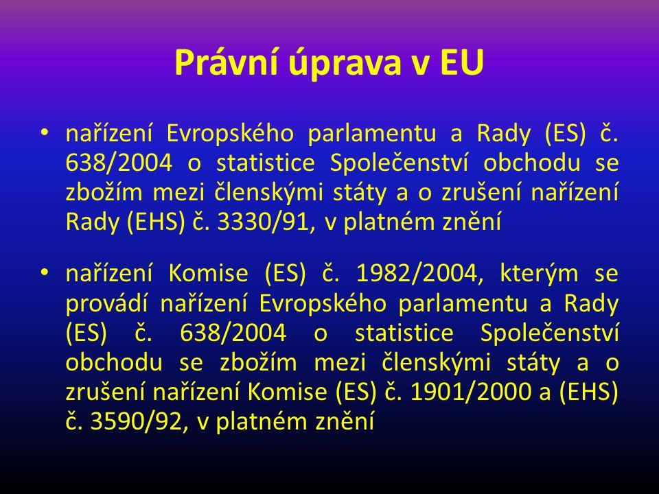 Právní úprava v ČR zákon č.13/1993 Sb., celní zákon, ve znění pozdějších předpisů vyhláška č.