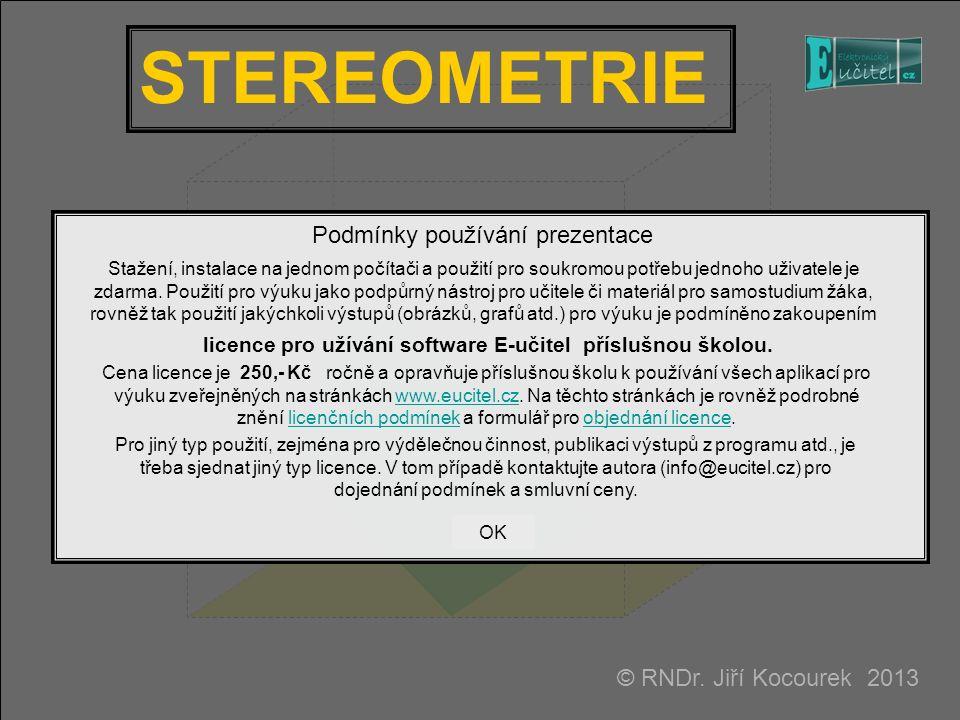 STEREOMETRIE © RNDr.