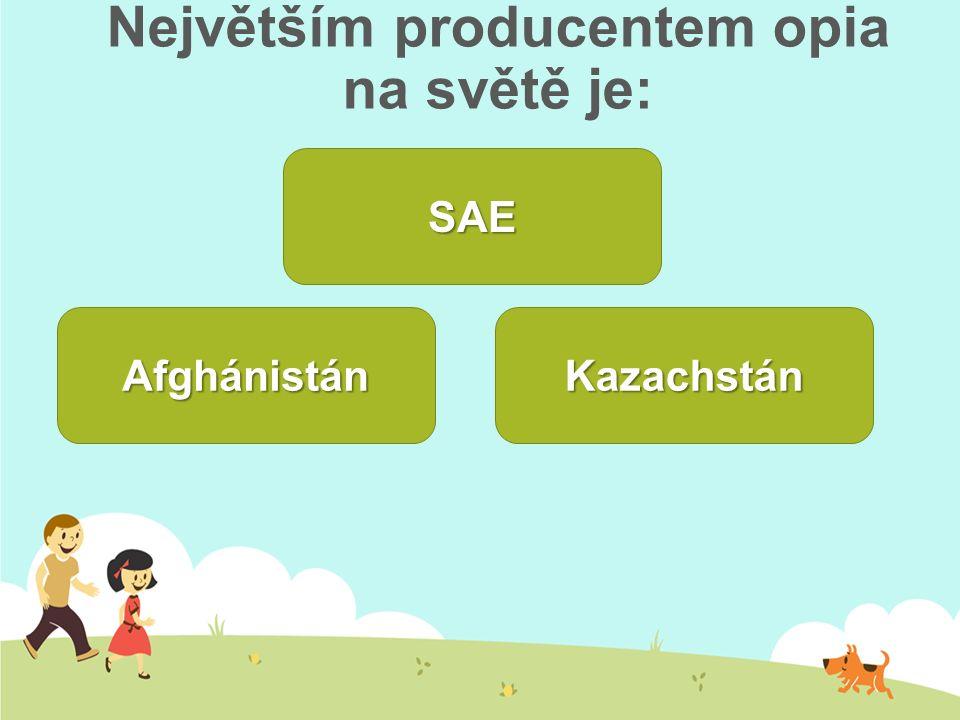 Největším producentem opia na světě je: Kazachstán Afghánistán SAE