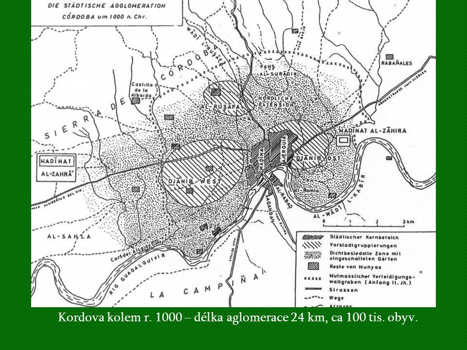 Madínat az-Zahrá, Kordova rezidenční město Abdurrahmána III., založeno 936, opuštěno v 2.