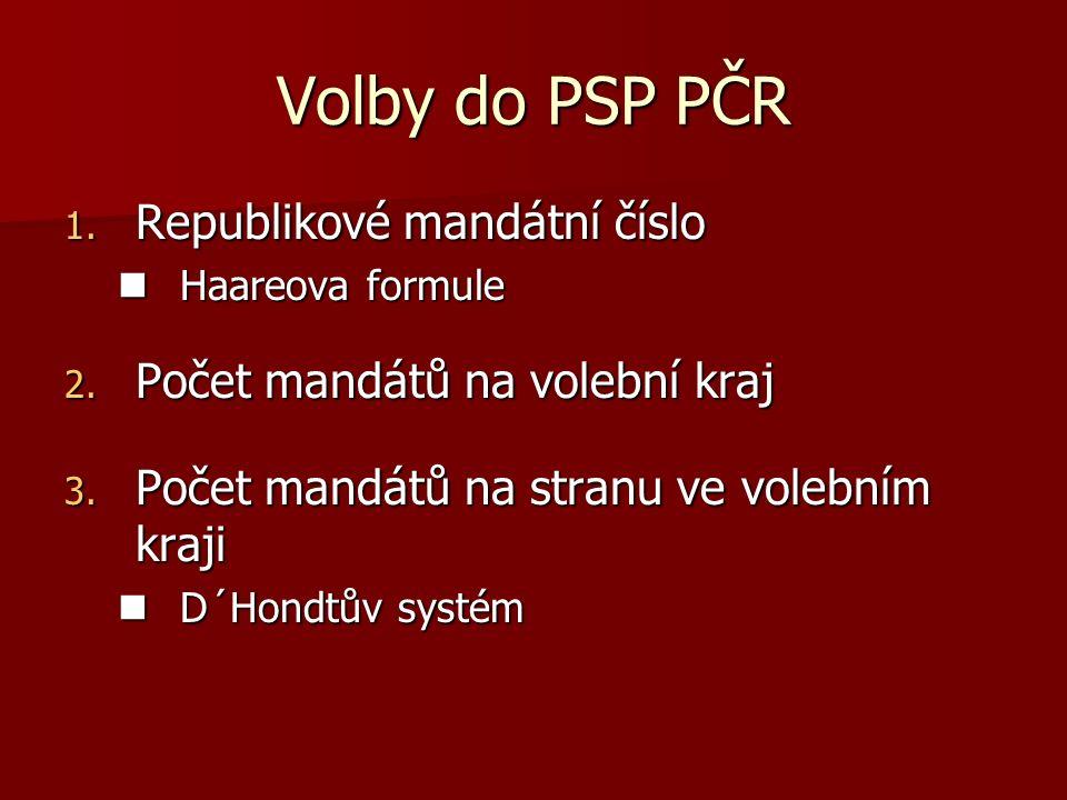 Volby do PSP PČR 1.Republikové mandátní číslo Haareova formule Haareova formule 2.