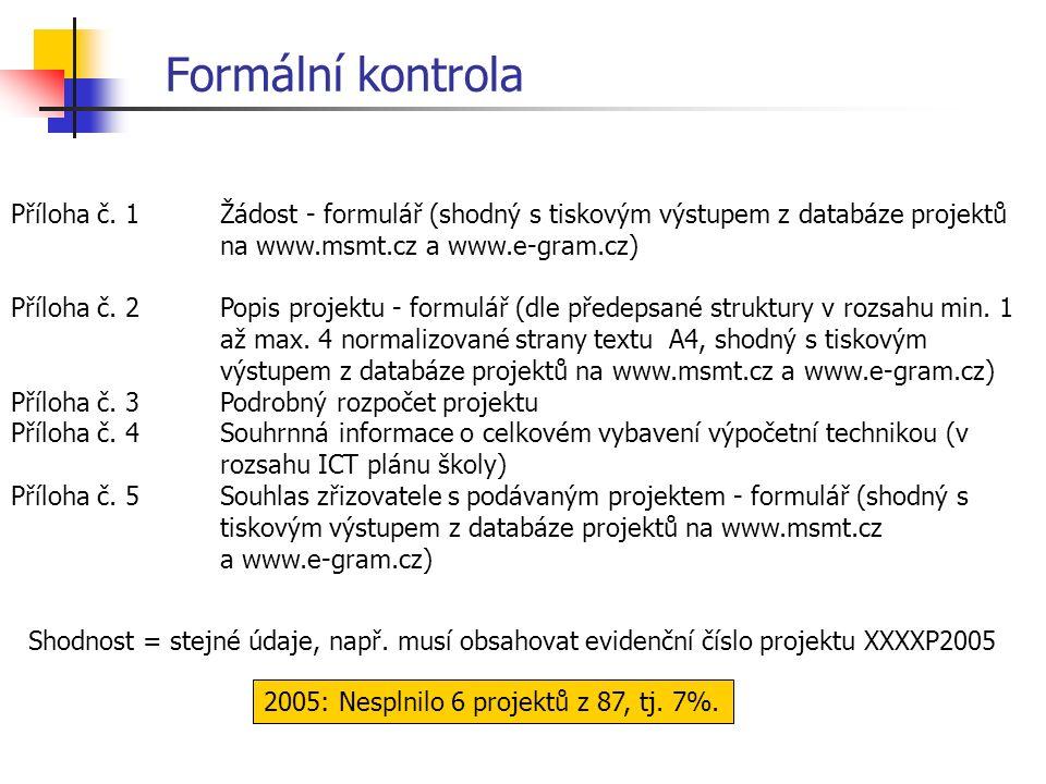 Formální kontrola Příloha č.
