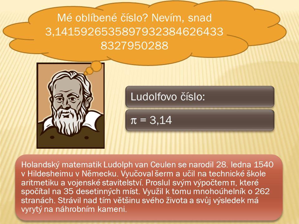 Holandský matematik Ludolph van Ceulen se narodil 28.