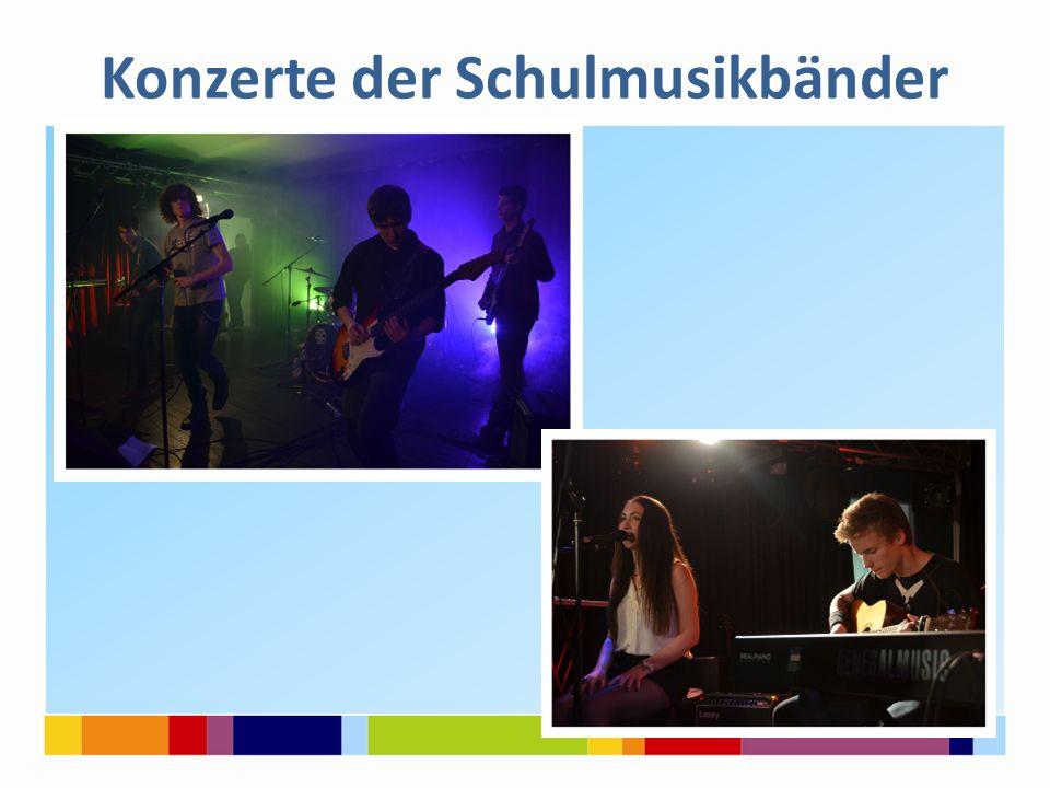 Konzerte der Schulmusikbänder