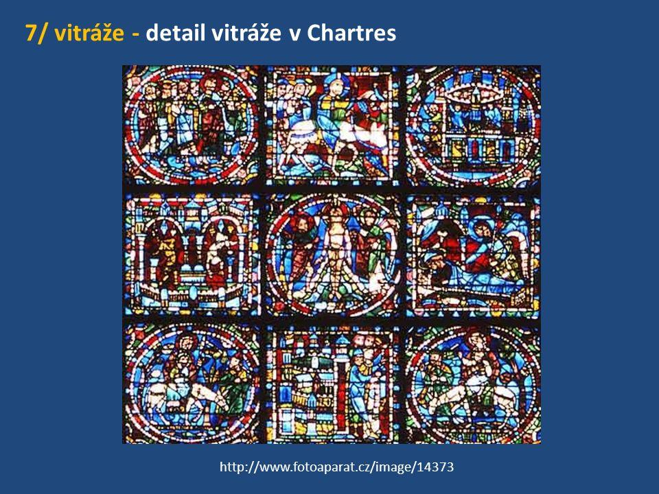7/ vitráže - detail vitráže v Chartres http://www.fotoaparat.cz/image/14373