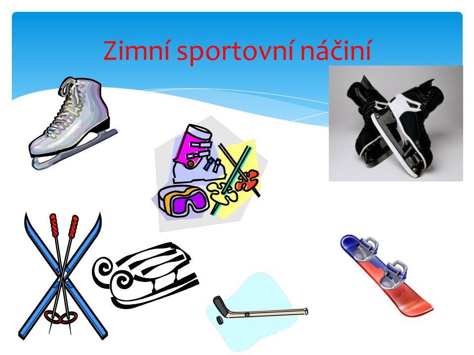 Podle druhu sportu a zábavy je třeba vybrat vhodné oblečení a obuv. Vhodné zimní oblečení