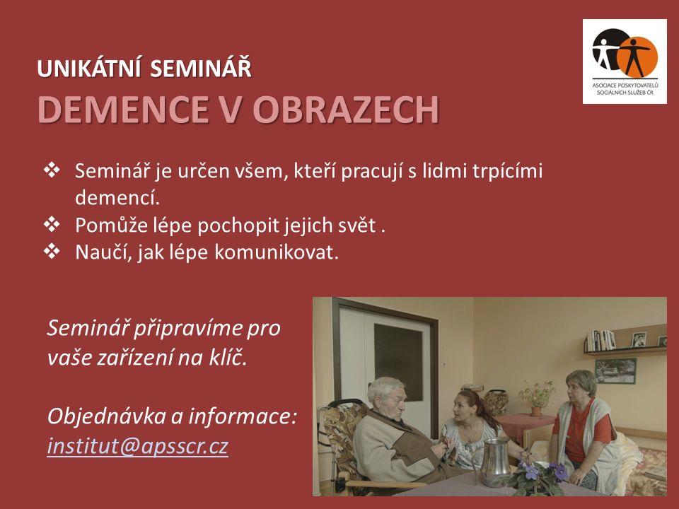 Aktuální nabídku seminářů najdete vždy na www.institutvzdelavani.cz.