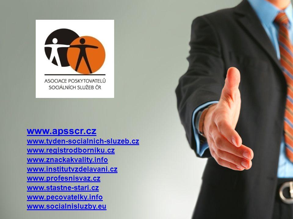 www.apsscr.cz www.tyden-socialnich-sluzeb.cz www.registrodborniku.cz www.znackakvality.info www.institutvzdelavani.cz www.profesnisvaz.cz www.stastne-
