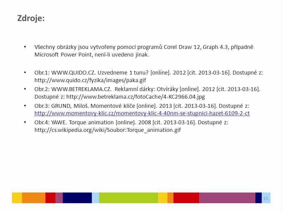 15 Zdroje: Všechny obrázky jsou vytvořeny pomocí programů Corel Draw 12, Graph 4.3, případně Microsoft Power Point, není-li uvedeno jinak. Obr.1: WWW.