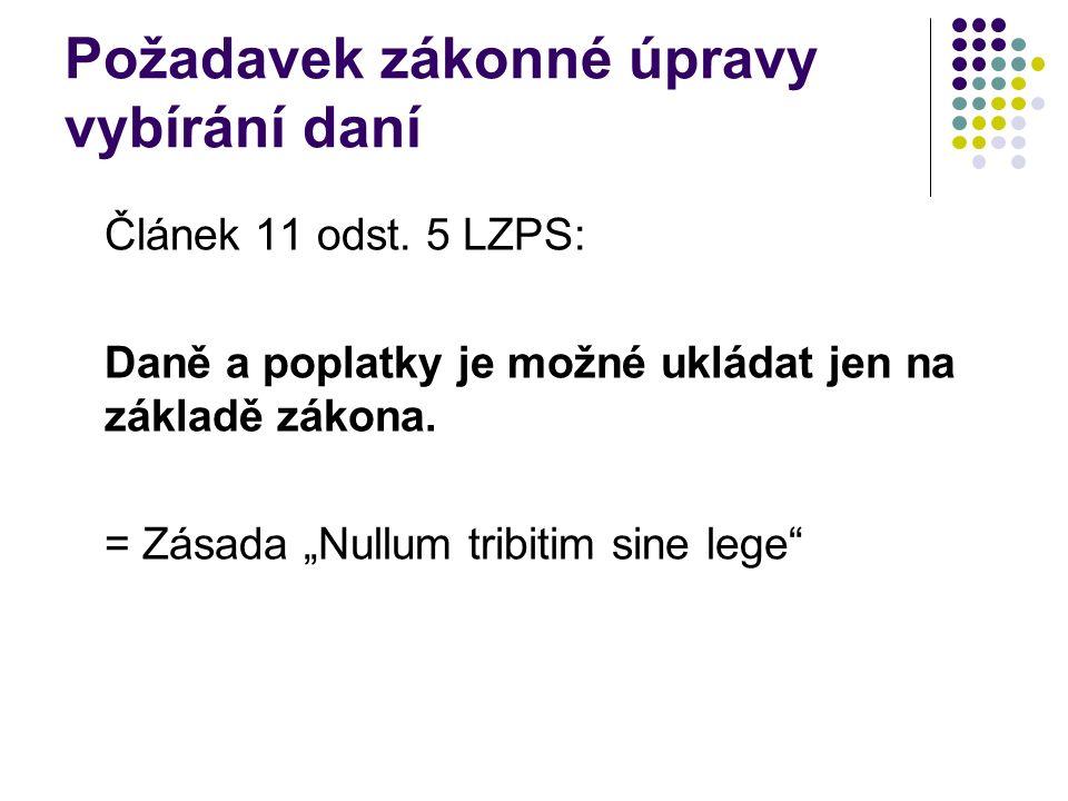 Správce daně Orgán veřejné správy vykonávající správu daně, tj.