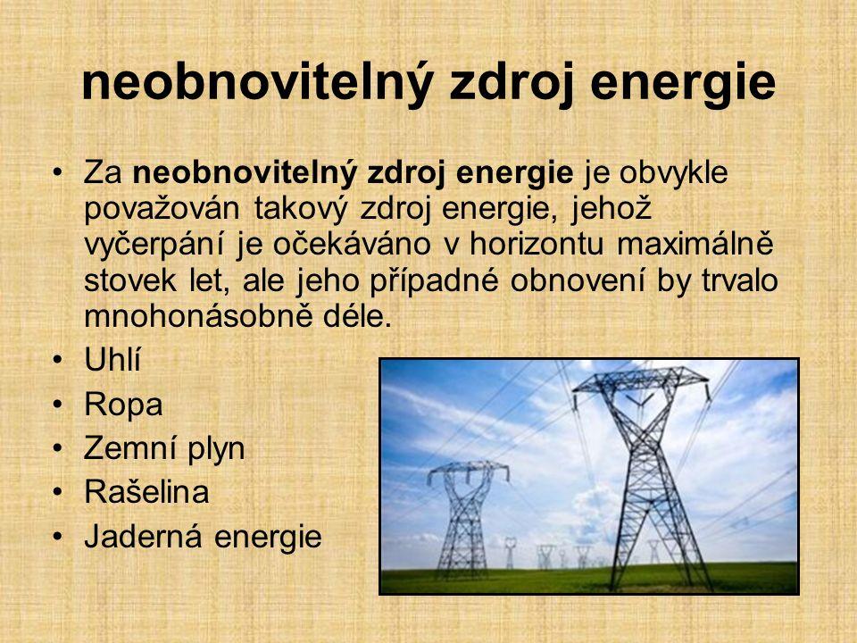 Jaderná elektrárny je výrobna elektrické energie resp.