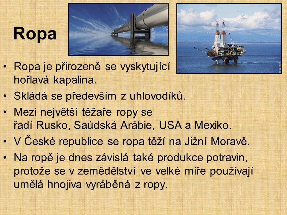 Zemní plyn Přírodní hořlavý plyn využívaný jako významné plynné fosilní palivo.