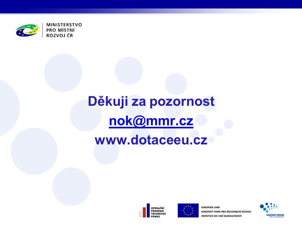 Děkuji za pozornost nok@mmr.cz www.dotaceeu.cz