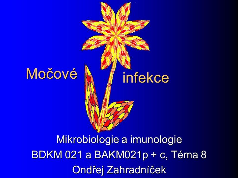 Močové Mikrobiologie a imunologie BDKM 021 a BAKM021p + c, Téma 8 Ondřej Zahradníček infekce