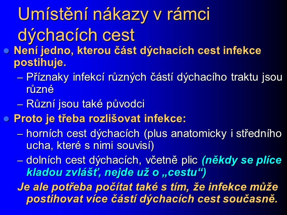 Purulentní (= hnisavá) bakteriální tonsilitis (angína) http://www.meddean.luc.edu/lumen/MedEd/medicine/PULMONAR/diseases/pul43b.htm