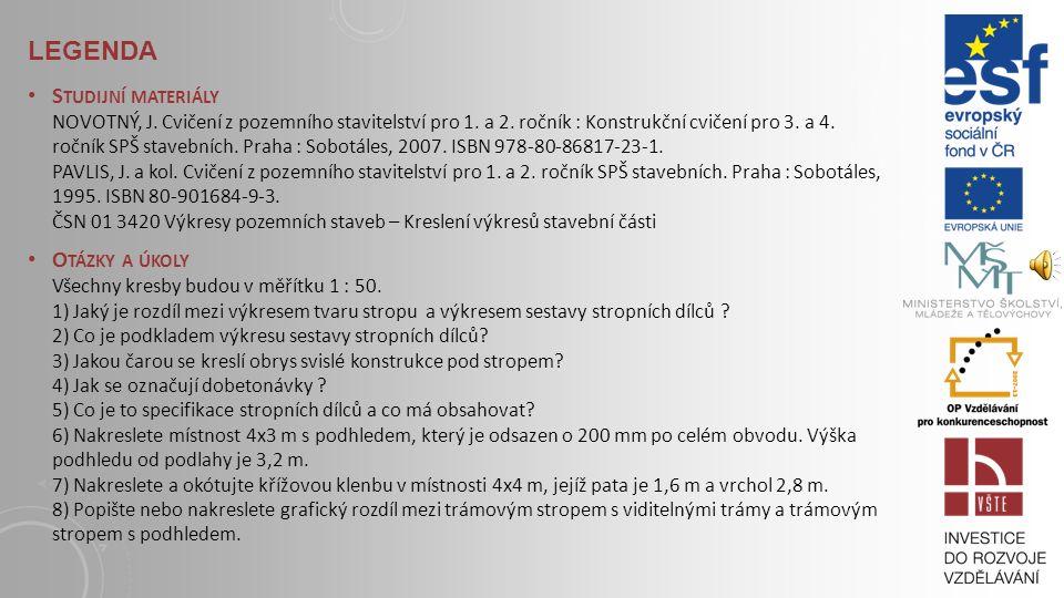 Novotný Jan, Cvičení z pozemního stavitelství pro 3. a 4. ročník, Konstrukční cvičení pro 3. a 4. ročník SPŠ stavebních, Sobotáles Praha 10, 2007, ISB