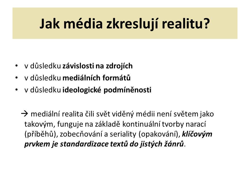Jak média zkreslují realitu.